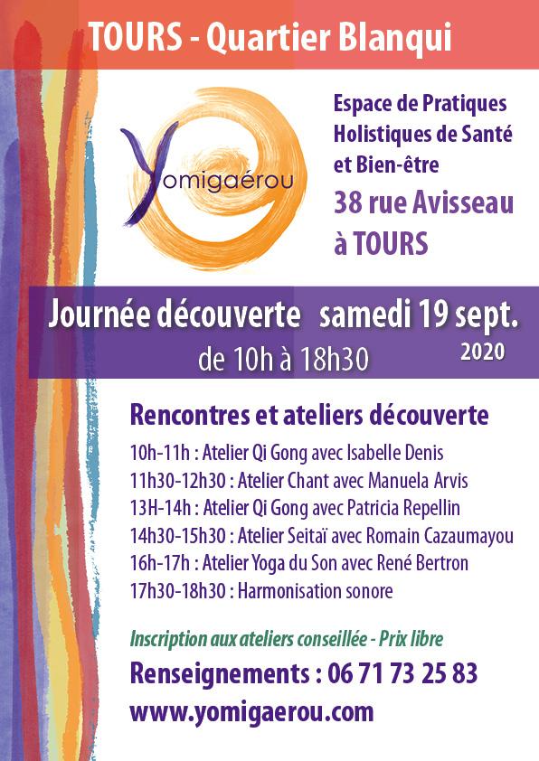 Journée Découverte des activités proposées à Yomigaérou le 19 septembre 2020 de 10h à 18h30.